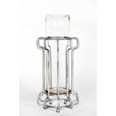 Large Clear Hurricane with Steel Base