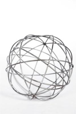 Metal Strand Sphere in Steel Finish