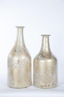 Large Milk Bottle w/ Lip in Dappled Light Finish