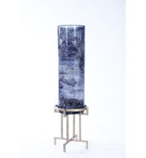Large Cylinder w/ Metal Base in Emperors Stone Finish