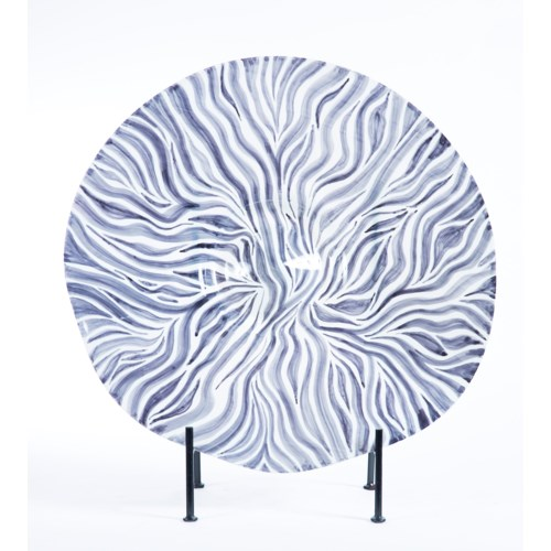 Large Charger with Stand in Zebra