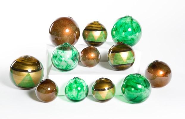 """Set of 12 Assorted Balls in Rancho Verde, Aloe Mist, & Caribbean Spice"""