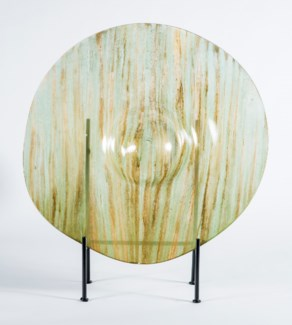 Large Charger with Stand in Palm Leaf Finish