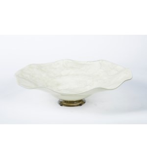 Large Wave Bowl in Roman Column Finish