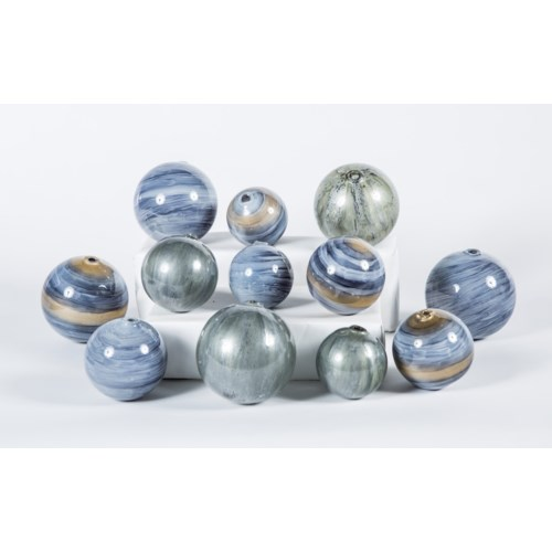 Set of 12 Spheres in Cheers, Concord & Gray Matters Finish