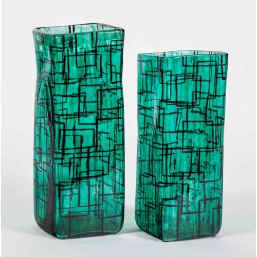 Large Square Vase in Green Gables Finish