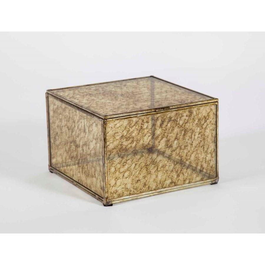 Large Square Box in Glimmer Finish