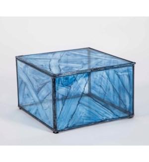 Large Square Box in Aquatic Haze Finish