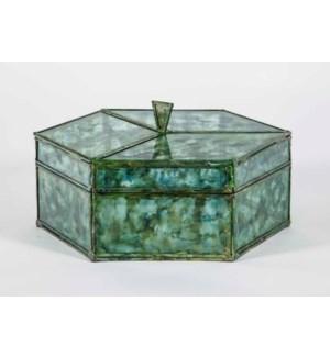 Octagonal Box in Sea Glass Finish