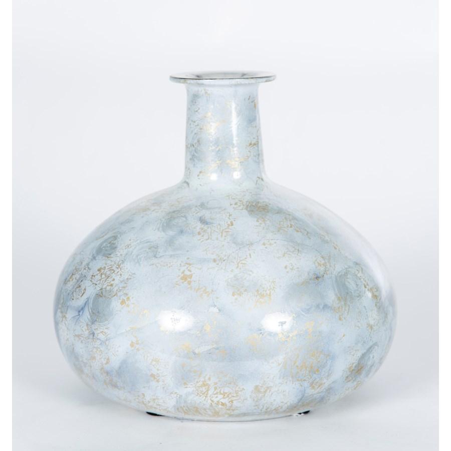 Large Bulb Vase in Smoky Haze Finish