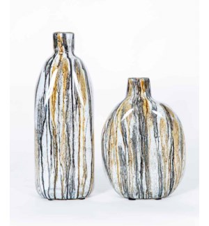 Large Hutton Vase in Gray Whisper Finish