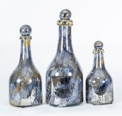 Set of 3 Bottles with Tops in Supernova Finish
