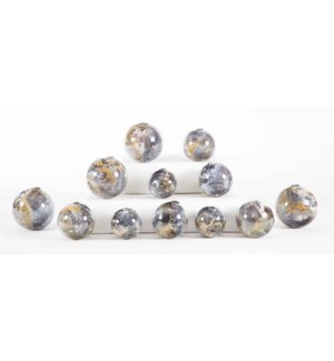 Set of 12 Spheres in Supernova Finish