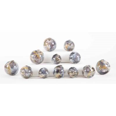Set of 12 Spheres in Supernova Finish