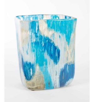 Rectangle Vase in Aquacade Finish