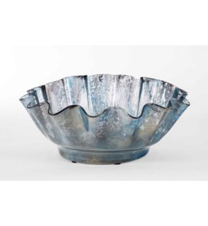 Ruffle Bowl in Tibetan Sky Finish