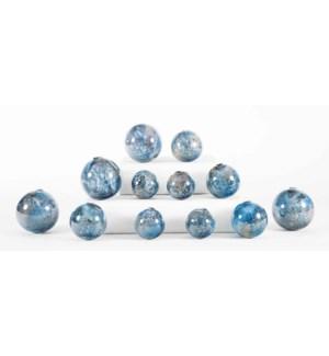 Set of 12 Spheres in Tibetan Sky Finish