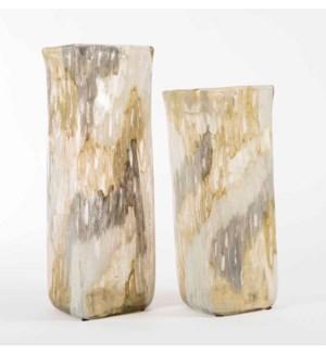 Large Square Vase in Mountain Ash Finish