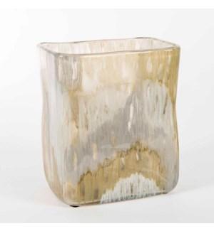 Rectangle Vase in Mountain Ash Finish