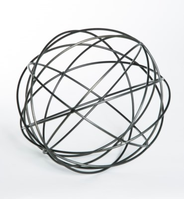 Metal Strand Sphere in Bronze