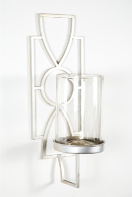 Clear Wall Sconce with Steel Holder