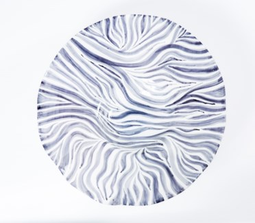 Large Wall Bowl in Zebra