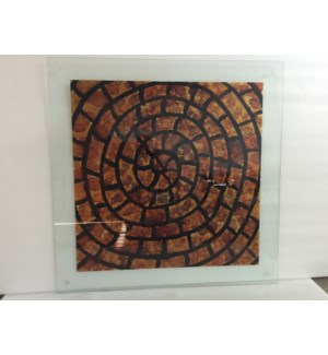 Nautilus Painted Glass Wall Art