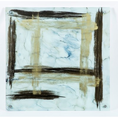 Crossroads Abstract Painted Glass Wall Art