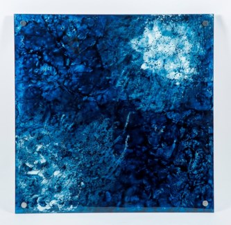 Abyss Painted Glass Wall Art