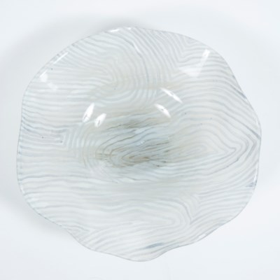 Small Wave Bowl w/ Wall Base in Wisteria Bloom Finish
