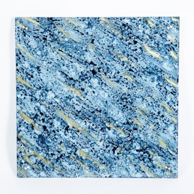 """Stratosphere Painted Glass Wall Art - 32"""" Square"""