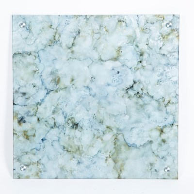 "Granite Dust Painted Glass Wall Art - 32"" Square"