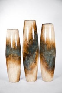 Large Barrel Floor Vase in Amerciana Finish