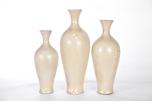 Large Tibor Vase in Cracked Cashmere Finish