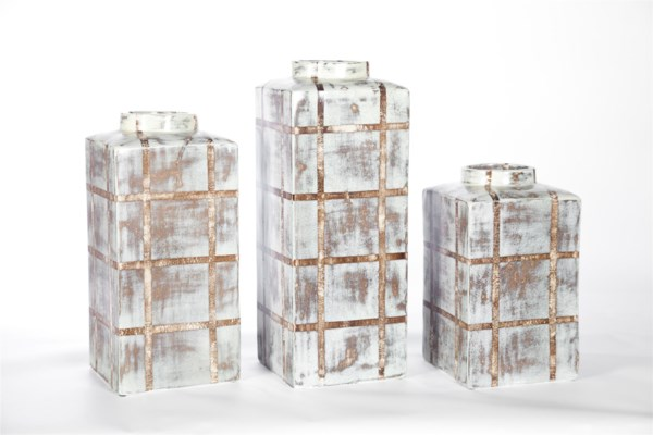 Large Square Canister in Cotton Bail Finish