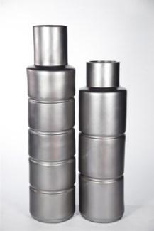 Large Floor Cylinder in Gun Metal Finish