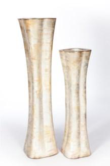 Large Floor vase in Burnished Birch Finish