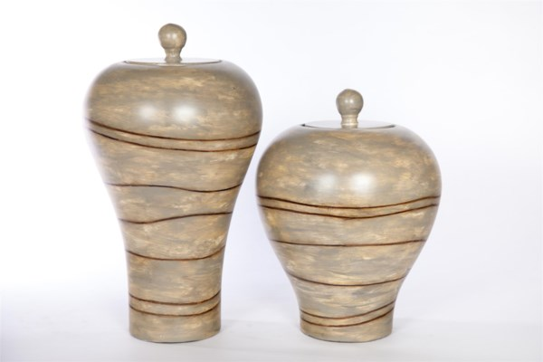 Small vase in Nazca Lines Finish