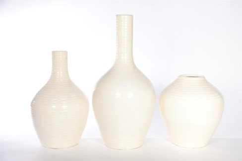 Large Table Vase in Pearl Finish