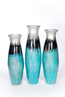 Large Floor Vase in Pacific Sea Finish