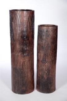 Large Floor Cylinder in Old Redwood Finish