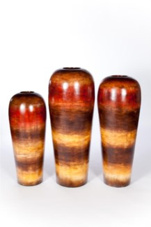 Large Floor Vase in Sunlit Tango Finish