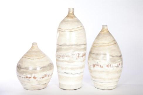 Large Vase in Oyster Finish