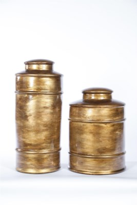 Large Tea Canister in Saffron Finish