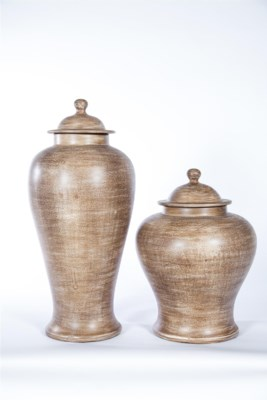 Large Ginger Jar in Rice Grain Finish