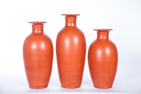 Large Floor Vase in Desert Torch Finish