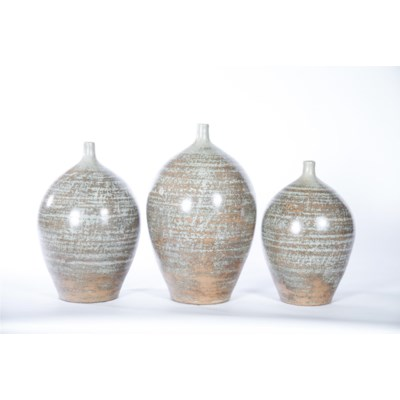 Large Bulb Vase in Quails Egg Finish
