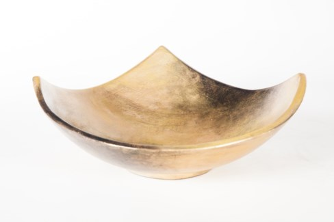 Square Bowl in Aurum Finish