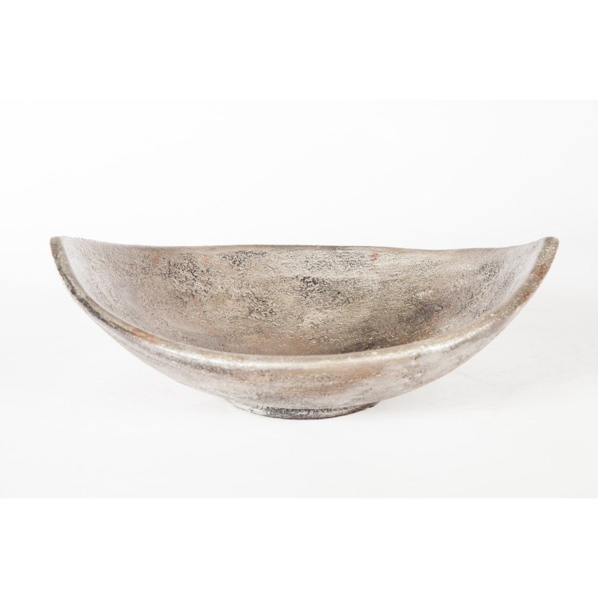 Large Table Boat in Silver Cast Finish