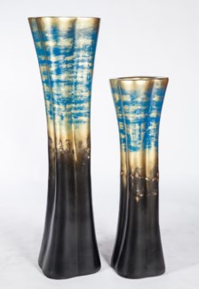 Large Floor Vase in Pacific Abyss